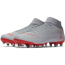 Nike Superfly 6 Academy Firm Ground Boot - Wolf Grey/LT Crimson