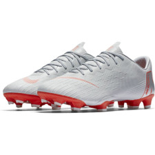 Nike Vapor 12 Pro Firm Ground Boot - Wolf Grey/LT Crimson