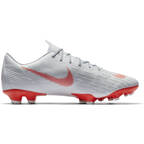 Nike Vapor 12 Pro Firm Ground Boot - Wolf Grey/LT Crimson