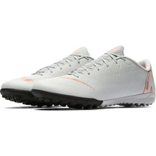 Nike VaporX 12 Academy Artificial Turf Boot - Wolf Grey/LT Crimson
