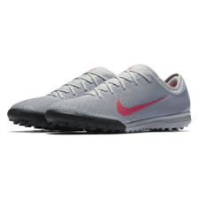 Nike VaporX 12 Pro Artificial Turf Boot - Wolf Grey/LT Crimson Black