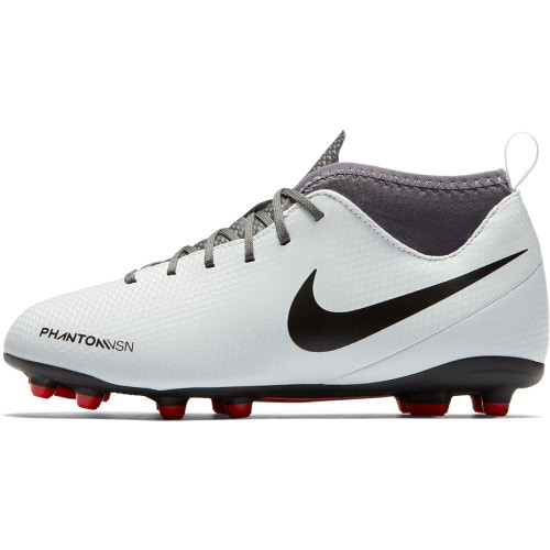 Nike Phantom VSN Club DF Firm Ground Boot Jr - Platinum/Black/Crimson