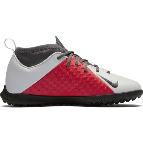 Nike Phantom VSN Club Dynamic Fit Artificial Turf Boot Jr - Platinum/Black/Crimson