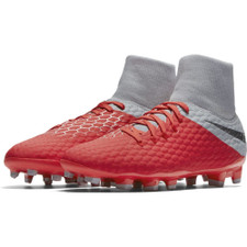 Nike Hypervenom 3 Academy Dynamic Fit Firm Ground Boot - Crms/Grey