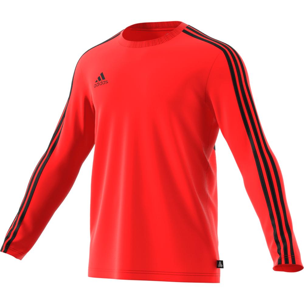 adidas Tango Terry Jersey Long Sleeve - Red   SOCCERX