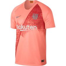 Nike Breathe FC Barcelona Stadium Jersey - Pink/Silver
