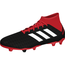 adidas Predator 18.3 Firm Ground Boots - Black/White/Red