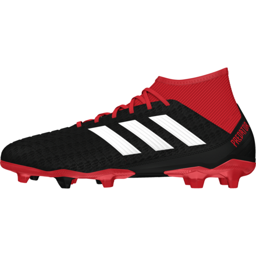 2bcc227e9a48 adidas Predator 18.3 Firm Ground Boots - Black White Red
