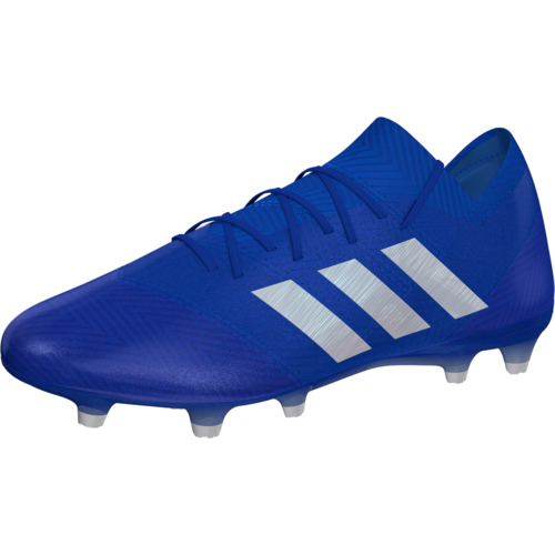 adidas Nemeziz 18.1 Firm Ground Boot - Blue White  9037c5109