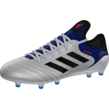 adidas Copa 18.1 Firm Ground Boot - Silver/Black/Blue