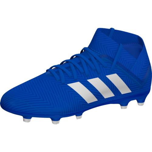 e09a6781b993 adidas Nemeziz 18.3 Firm Ground Boot Jr - Blue/White | SOCCERX