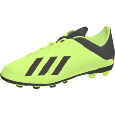 adidas X 18.4 Firm Ground Jr - Solar Yellow/Core Black/Solar Yellow