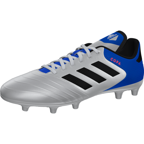 adidas Copa 18.3 Firm Ground Boot - Silver/Black/Blue