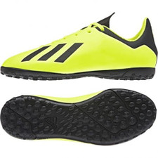 adidas Jr X Tango 18.4 Artificial Turf Boots - Yellow/Black