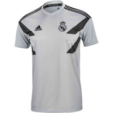 adidas Real Madrid Home Pre-Match Jersey - Grey