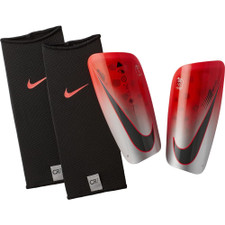 Nike CR7 Mercurial Lite Shinguards - Crimson/Silver/Black