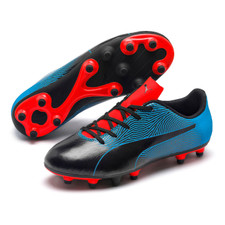 Puma Spirit II Firm Ground Boot Jr - Black/Blue