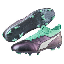 Puma One 3 IL Leather Firm Ground Boot - Color Shift-Biscay Green