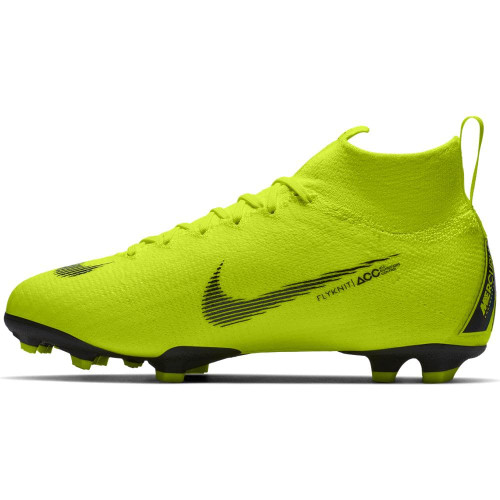 Nike Jr Superfly 6 Elite Firm Ground Boots - Volt/Black