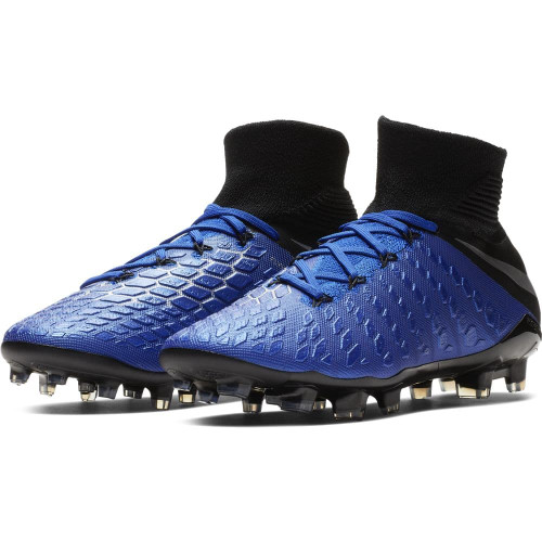 Nike Jr Hypervenom 3 Elite Dynamic Fit Firm Ground Boots - Blue/Silver