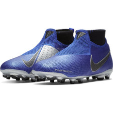 Nike Jr Phantom VSN Elite Dynamic Fit Firm Ground Boot Jr - Blue/Silver