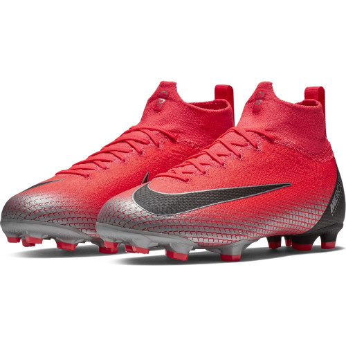 Nike CR7 Jr Mercurial Superfly 6 Elite Firm Ground Boot - Crimson/Black