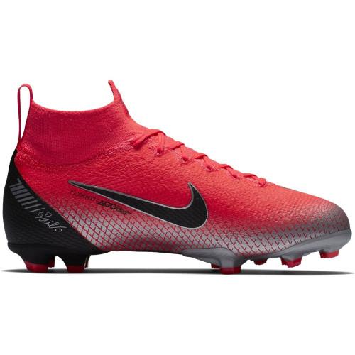 Nike CR7 Jr Mercurial Superfly 6 Elite Firm Ground Boot - Crimson/Black
