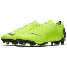 Nike Vapor 12 Elite Firm Ground Boots - Volt/Black
