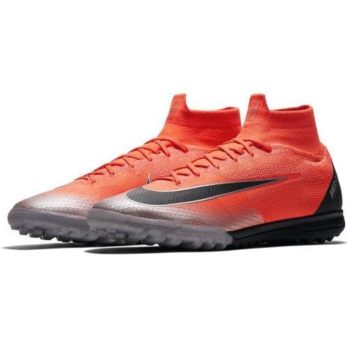 Nike CR7 SuperflyX 6 Elite Artificial Turf Boot - Crimson/Black