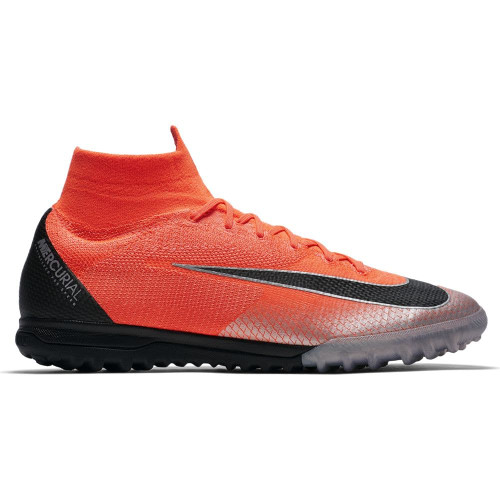 Nike CR7 SuperflyX 6 Elite Artificial Turf Boot - Crimson/Black