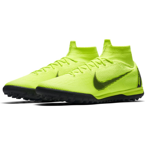 Nike SuperflyX 6 Elite Artificial Turf Boots - Volt/Black