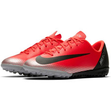 Nike CR7 JR VaporX 12 Academy Artificial Turf Boots - Crimson/Black