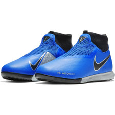 Nike Jr Phantom VSN Academy DF Indoor Boots - Racer Blue/Black