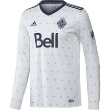 adidas Vancouver Whitecaps FC Long Sleeve Home Jersey 2017 - White