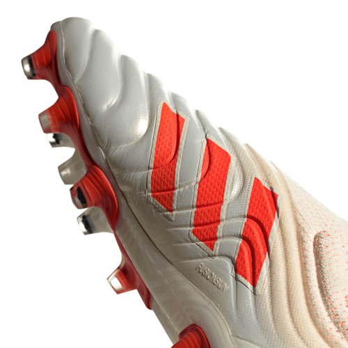 adidas Copa 19+ Firm Ground Boots - Off White/Solar Red/Off White