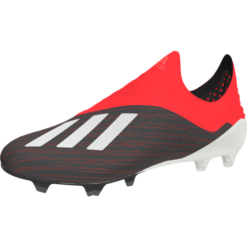 adidas X 18+ Firm Ground Boots - Core Black/Ftwr White/Active Red