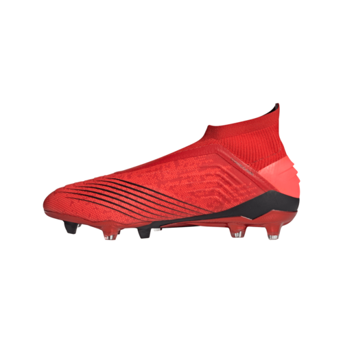 adidas Predator 19+ Firm Ground Boots - Active Red/Solar Red/Core Black