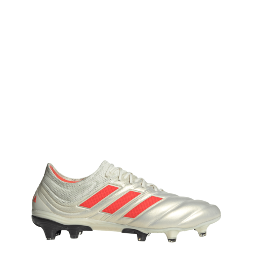 adidas Copa 19.1 Firm Ground Boots - Off White/Solar Red/Core Black