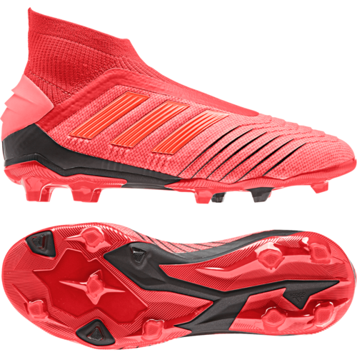 adidas Predator 19+ Firm Ground Boots Jr - Active Red/Solar Red/Core Black