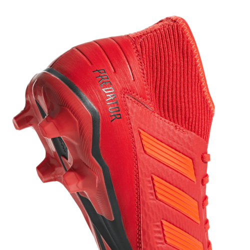 adidas Predator 19.3 Firm Ground Boots - Active Red/Solar Red/Core Black