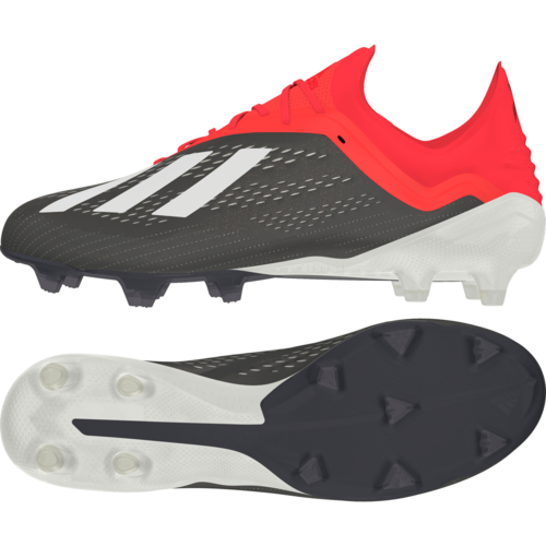 adidas X 18.1 Firm Ground Boots - Core Black/White/Active Red