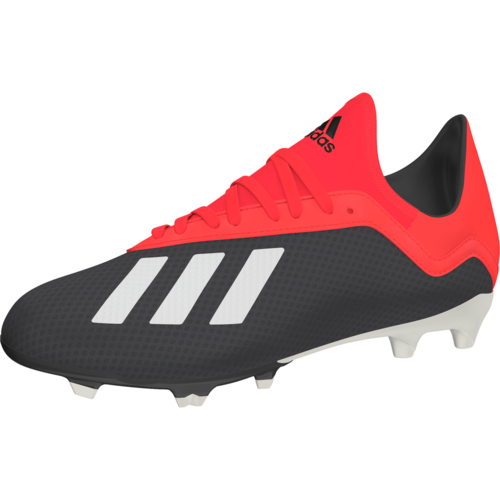 adidas X 18.3 Firm Ground Boots - Core Black/Off White/Grey Four F17 - JR