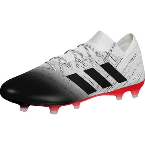 adidas Nemeziz 18.1 Firm Ground Boots - Off White/Core Black/Active Red