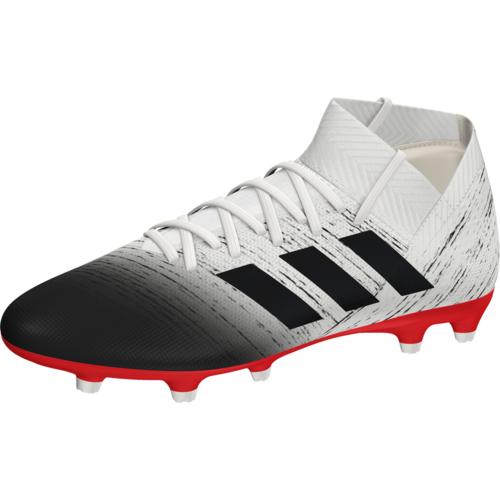 40d2c6f10 adidas Nemeziz 18.3 Firm Ground Boots - Off White Core Black Red