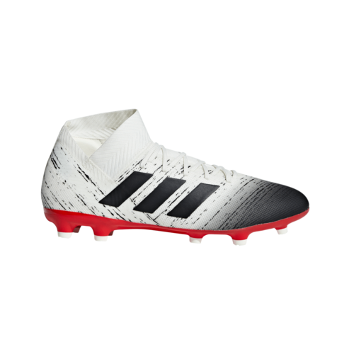 adidas Nemeziz 18.3 Firm Ground Boots - Off White/Core Black/Red
