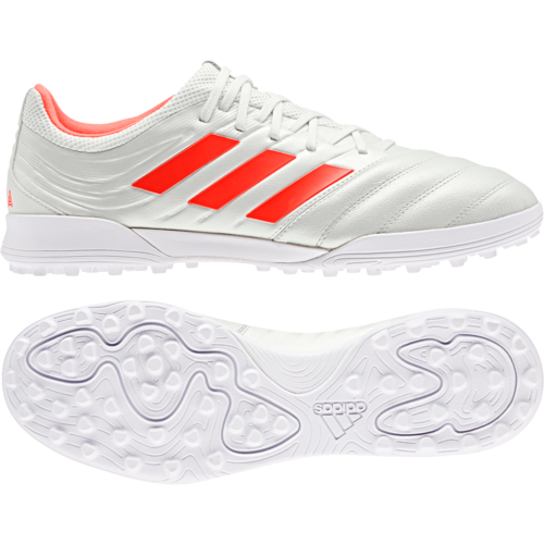 84463ed14 ... adidas Copa 19.3 Turf Boots - Off White Solar red White ...