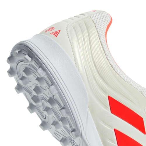 adidas Copa 19.3 Turf Boots - Off White/Solar red/White