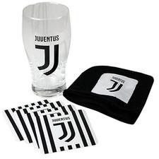 Juventus Mini Bar Set (PINT GLASS, BAR TOWEL, 4 COASTERS)