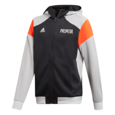 adidas Predator Full-Zip Hoodie - Black/Grey