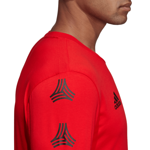 adidas Tango Graphic Cotton Tee - Red